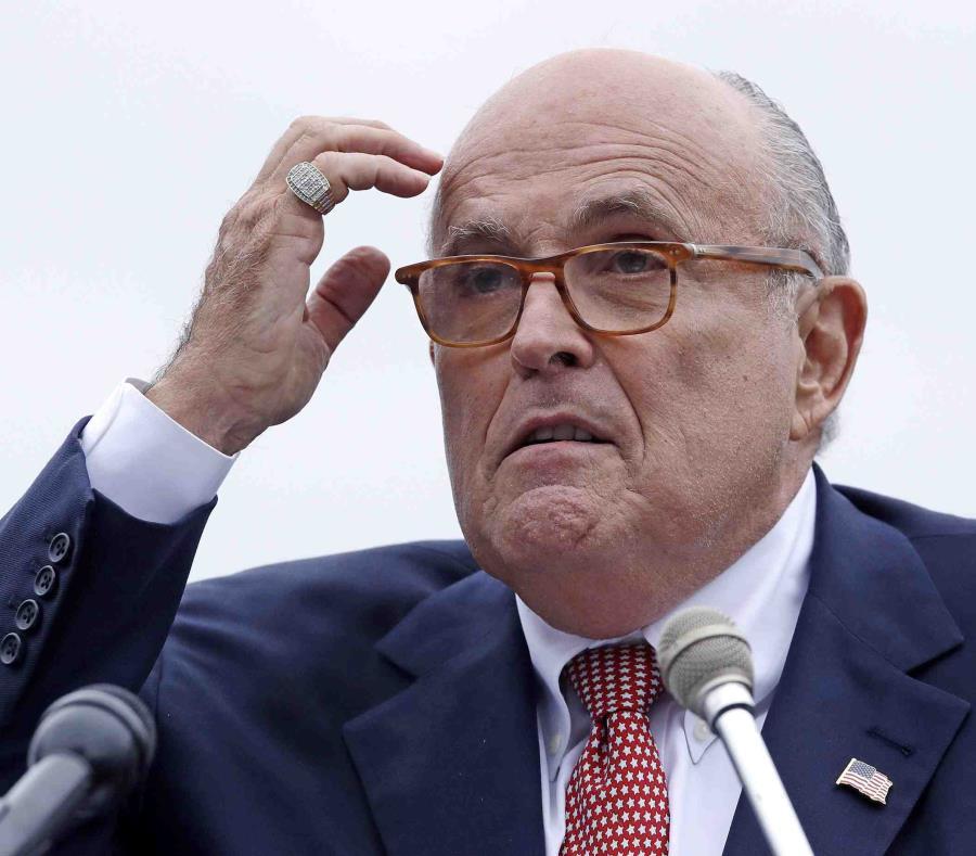 Rudy Giuliani durante un evento electoral en Portsmouth, Nuevo Hampshire. (semisquare-x3)
