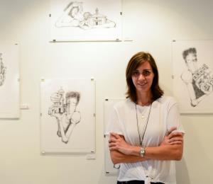 Una artista muestra la odisea durante el huracán