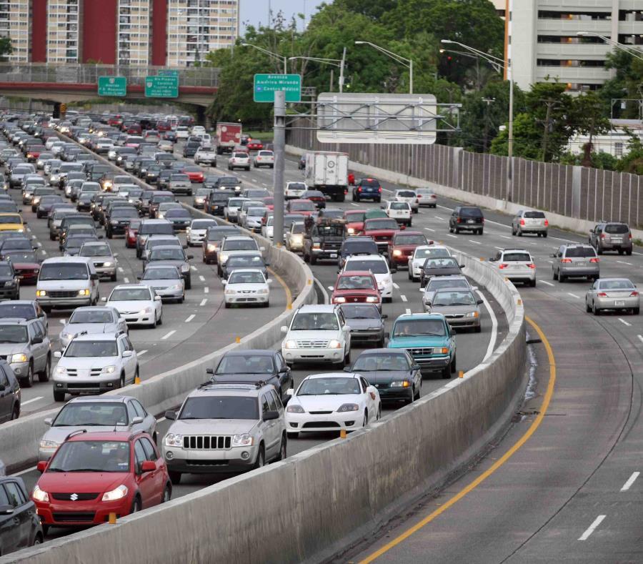 Imagen del carril reversible en un tramo de San Juan (semisquare-x3)