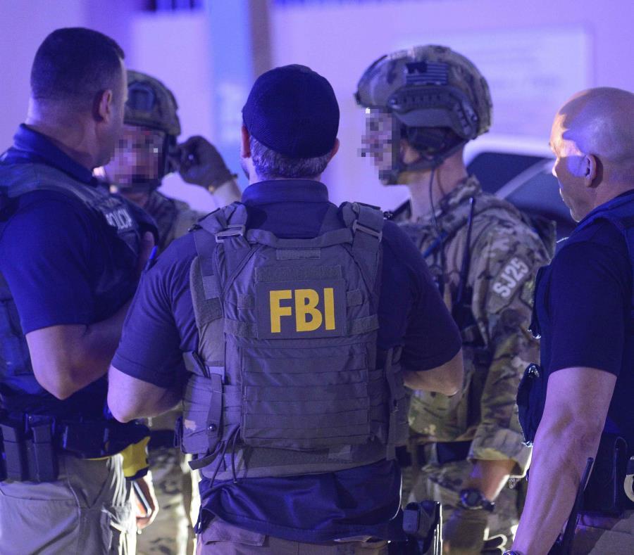 El operativo, que fue liderado por el FBI, incluyó a varias agencias estatales y federales (semisquare-x3)