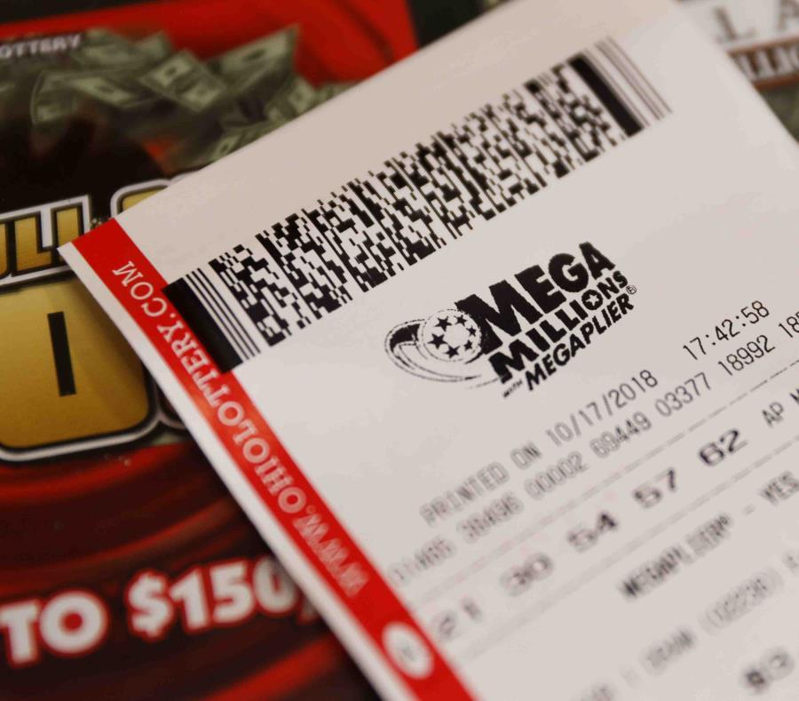 En la foto un boleto de la lotería estadounidense