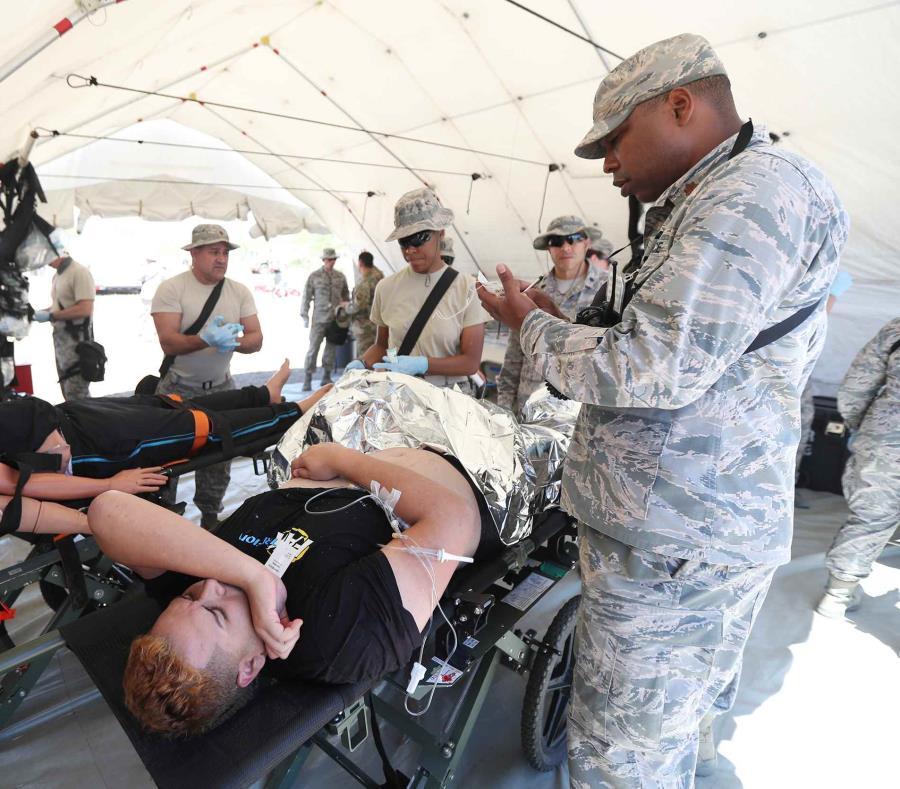 Simulacro de escenarios de respuesta de emergencia, realizada en marzo de este año en el Campamento Santiago en Salinas. (GFR Media) (semisquare-x3)