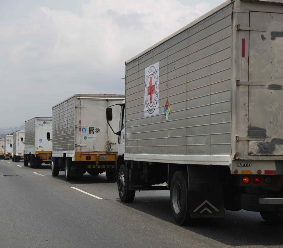 La Cruz Roja venezolana anunció este martes el ingreso de un primer lote de ayuda humanitaria