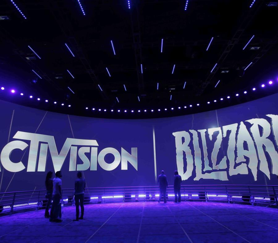 Esta fotografía de archivo del 13 de junio de 2013 muestra el espacio de Activision Blizzard durante la Electronic Entertainment Expo en Los Ángeles (semisquare-x3)