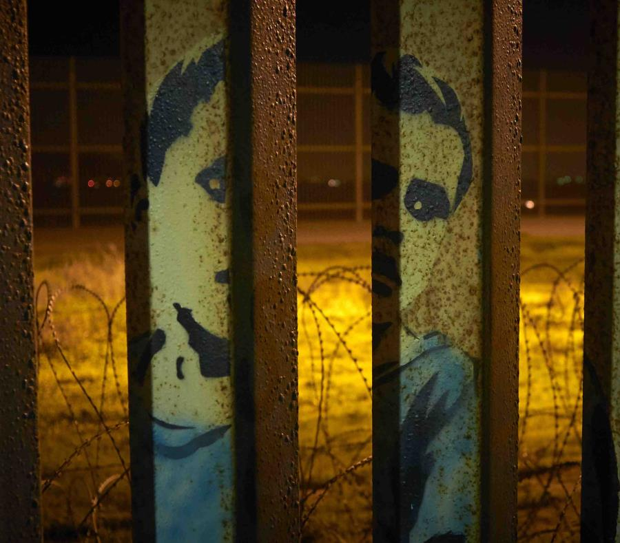 Parte de una cerca fronteriza en Tijuana, México, el 11 de enero del 2019. (semisquare-x3)