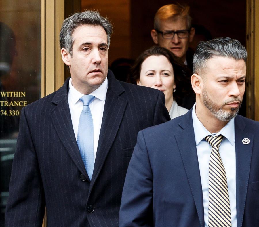 Michael Cohen, a la salida del Tribunal Federal de Estados Unidos en Nueva York. (Agencia EFE) (semisquare-x3)