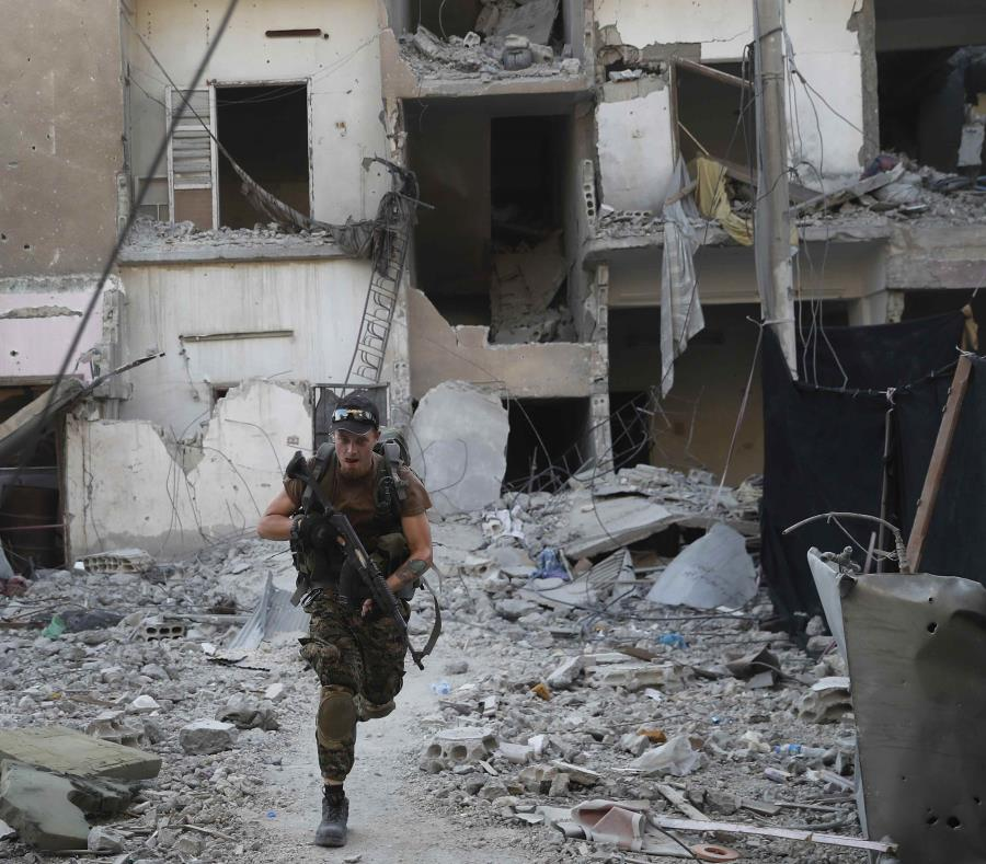 Los combates en Raqqa, en Siria. (semisquare-x3)