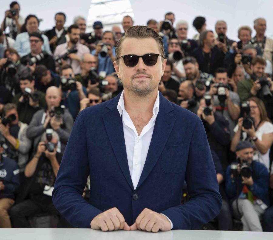 El actor Leonardo DiCaprio posa con motivo del estreno de