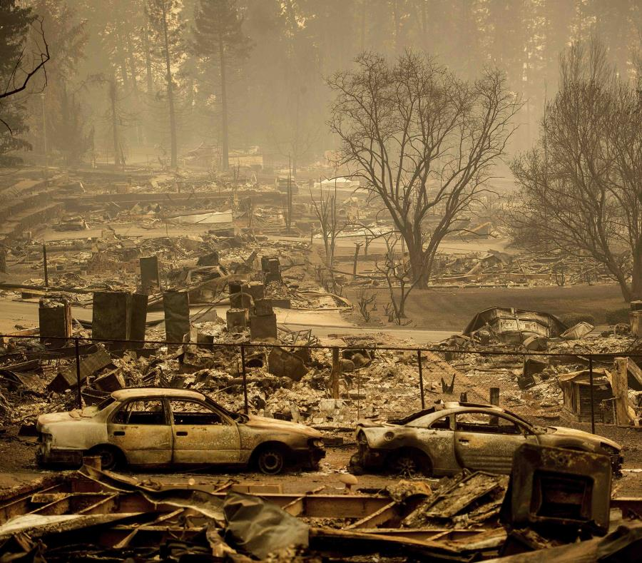 En la imagen, vista de viviendas arrasadas por un incendio en Edgewood Lane, Paradise, California, el 12 de noviembre de 2018 (semisquare-x3)