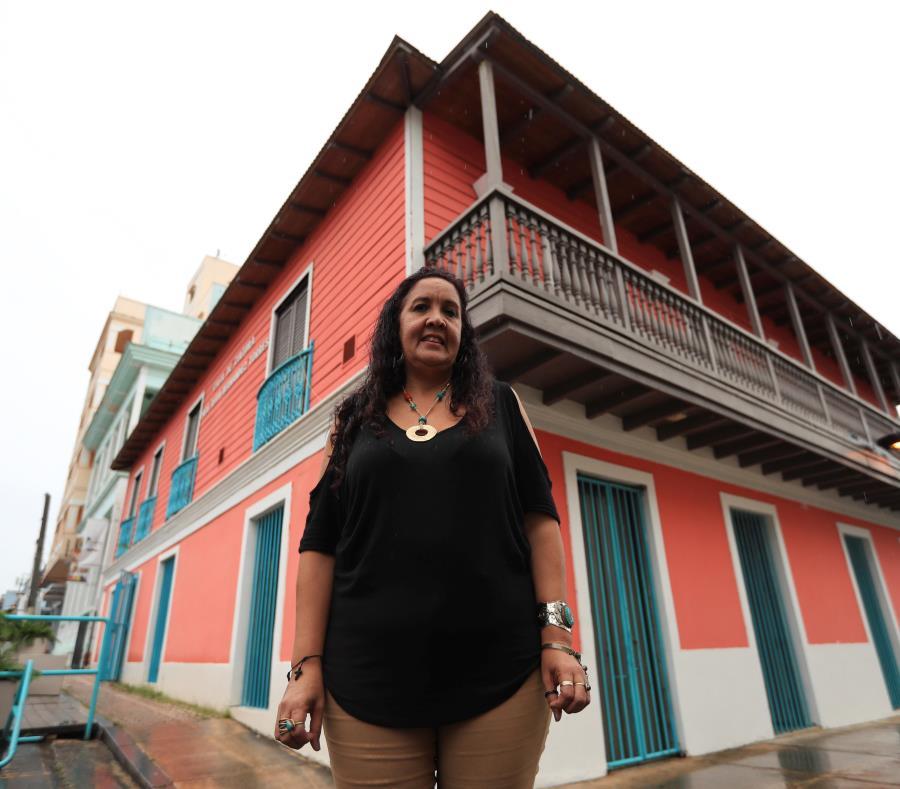 Zenia González Clemente, directora de la Junta Comunitaria del Casco Urbano de Río Piedras, entidad que ahora estará a cargo de la administración de la Casa Ruth Hernández Torres, en Río Piedras (semisquare-x3)