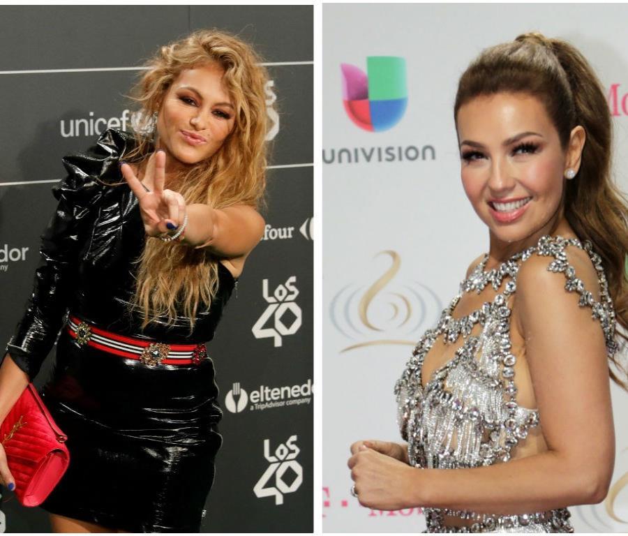 Paulina Rubio y Thalía comenzaron su rivalidad desde que eran adolescentes (semisquare-x3)