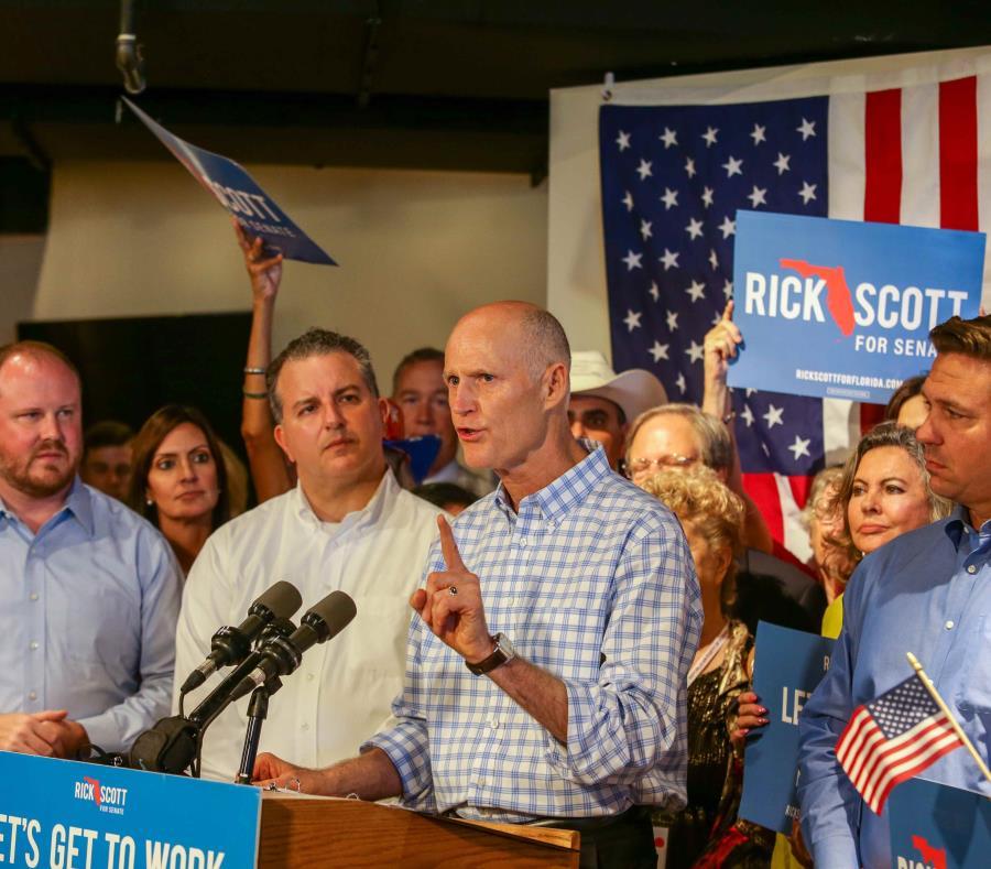 El gobernador de Florida,  Rick Scott, se unió a funcionarios y candidatos elegidos a nivel estatal para celebrar los 61 días hasta el día de las elecciones. (Carla D. Martínez / Especial GFR Media) (semisquare-x3)