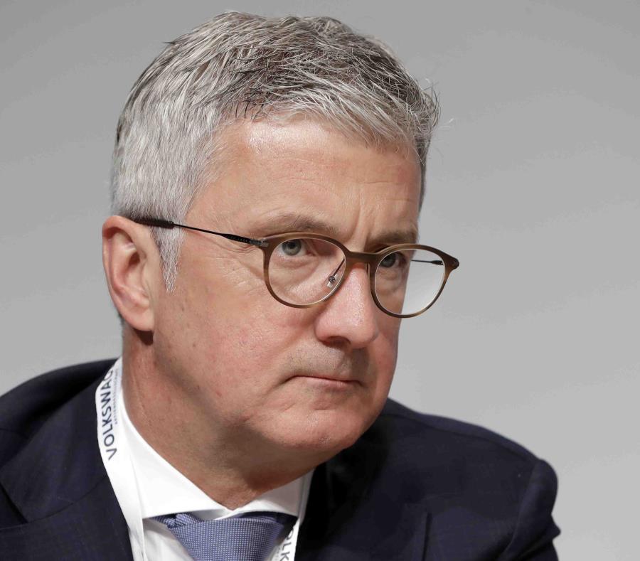 Rupert Stadler en mayo de 2018, quien entonces era el CEO de Audi AG, durante una asamblea con accionistas en Berlín, Alemania. (AP  /Michael Sohn) (semisquare-x3)