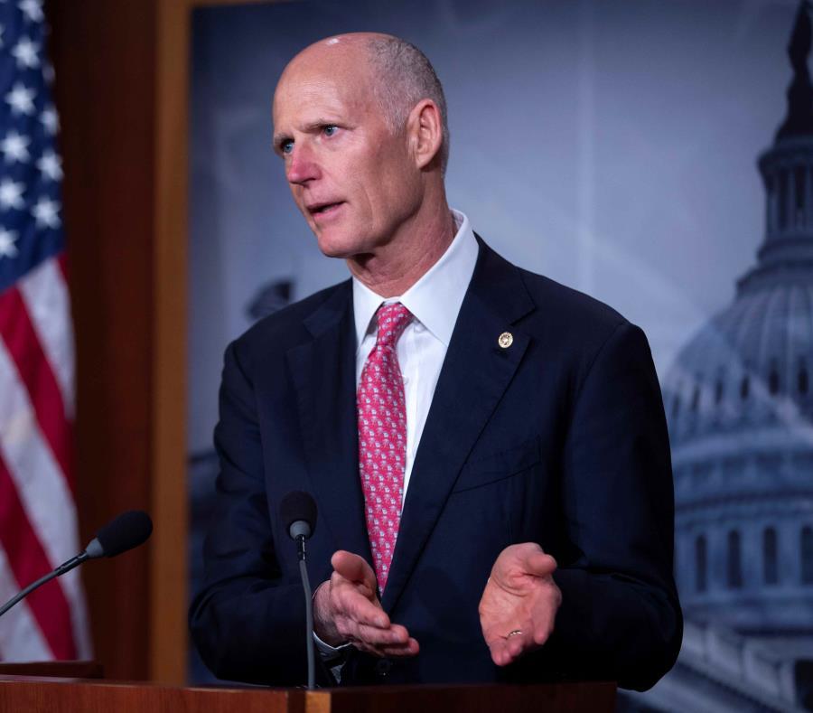 El senador republicano Rick Scott (Florida) dijo ayer que se reunió con el presidente Trump para discutir el impasse, que cumple ya tres meses. (EFE / Erik S. Lesser) (semisquare-x3)