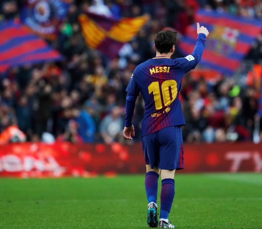 Messi durante un partido de la liga española entre el Barcelona y el Atlético de Madrid. (semisquare-x3)