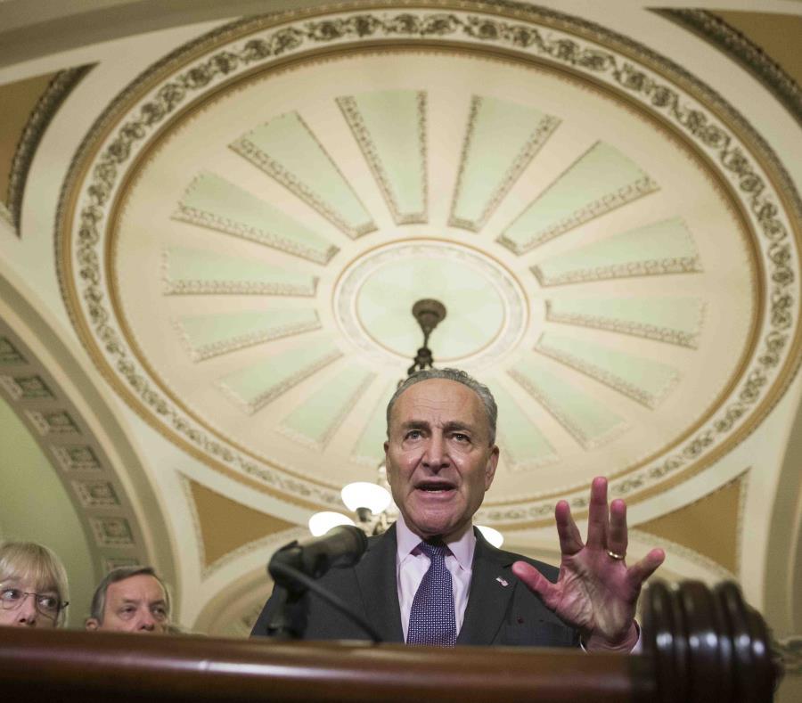 El líder de la minoría demócrata en el Senado federal, Charles Schumer. (AP/Alex Brandon) (semisquare-x3)