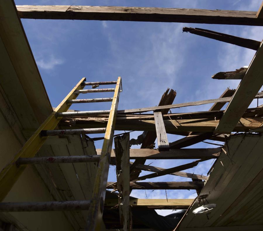 Uno de los hogares destruidos por el huracán María. (GFR Media) (semisquare-x3)