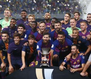 Lionel Messi conquista la Supercopa de España con el Barcelona