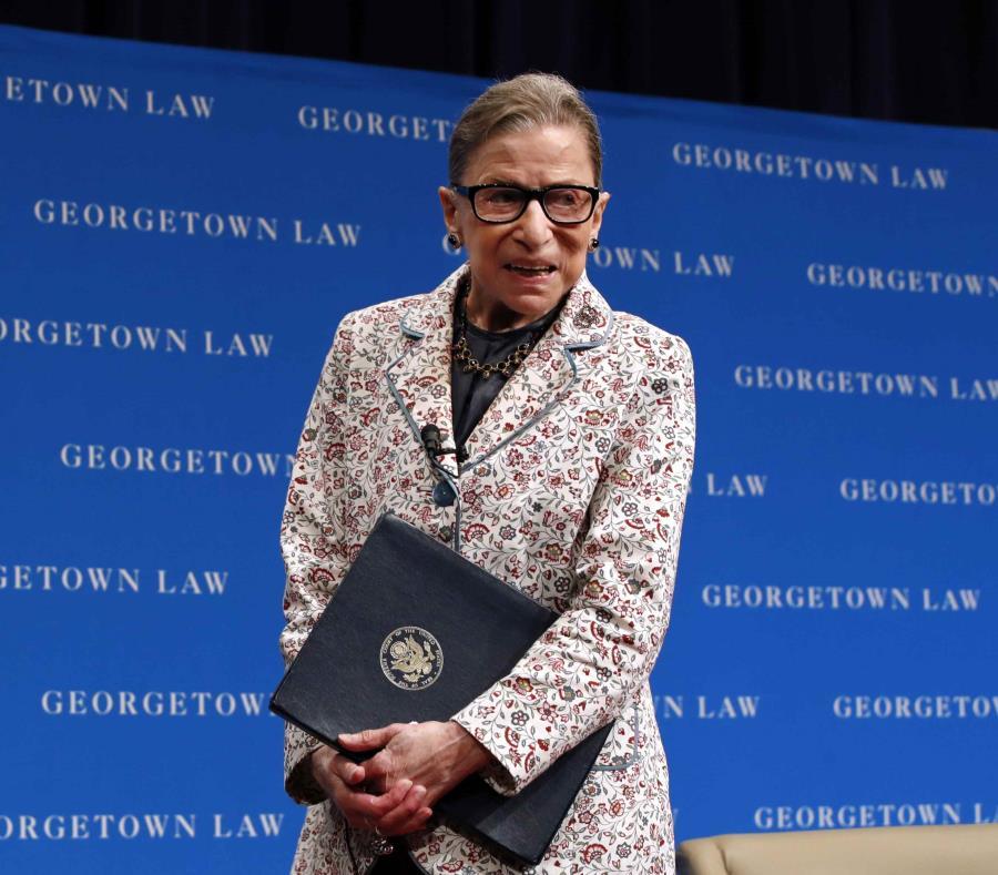 Jueza del Supremo estadounidense Bader Ginsburg se fractura tres costillas