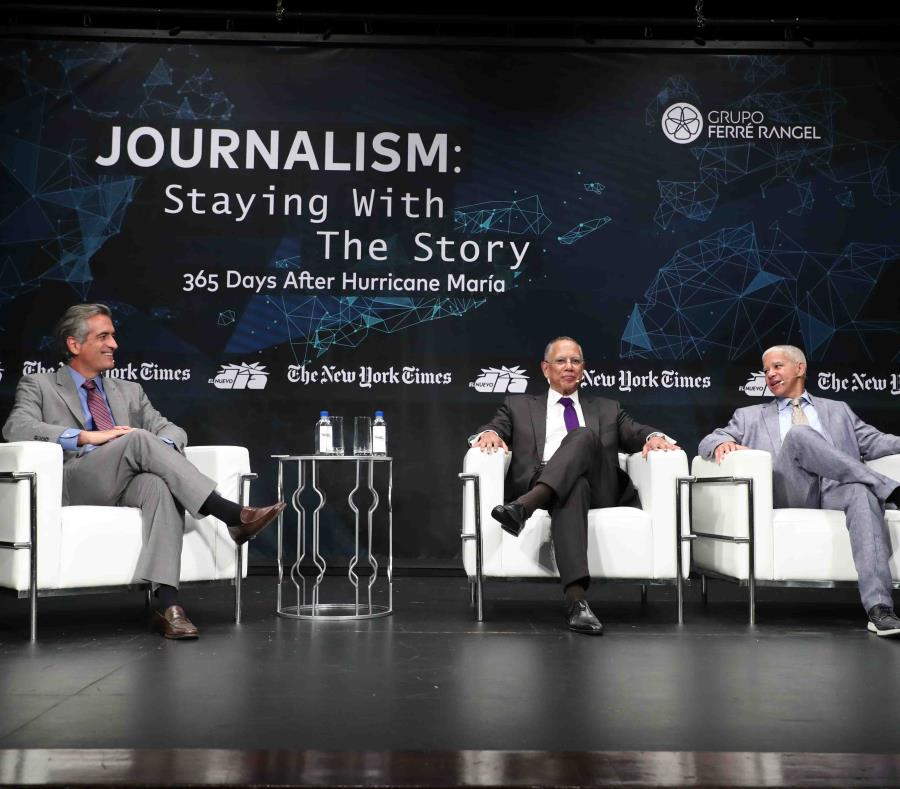 Marc Lacey, New York Times National Editor, and Dean Baquet, Executive Director of The New York Times. (semisquare-x3)