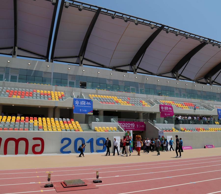El Estadio Atlético de la Videna es una de las nuevas instalaciones que ya están listas en Lima para albergar los Juegos Panamericanos en este verano. (EFE/Ernesto Arias) (semisquare-x3)