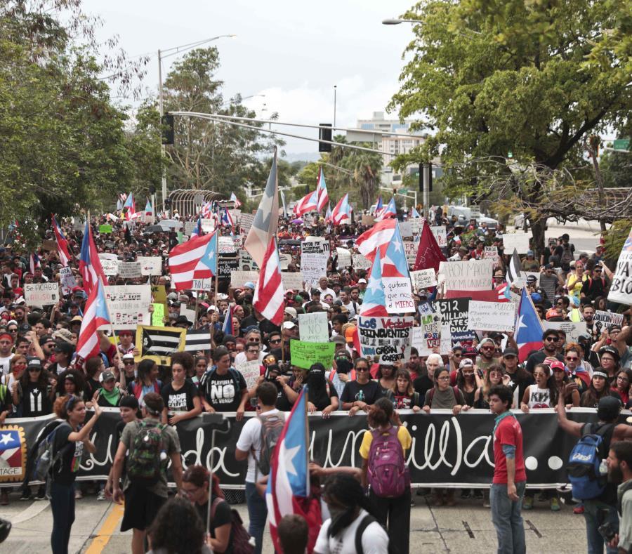 En la foto la manifestación que salió de la UPR de Río Piedras durante la protesta de 2018 (semisquare-x3)