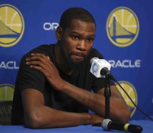 Kevin Durant estará fuera por dos semanas
