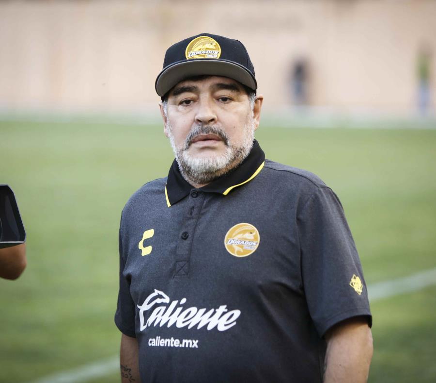 El equipo de Diego Armando Maradona perdió ante el Atlético San Luis el partido de vuelta de la final del Torneo Apertura de Ascenso y así la posibilidad de conquistar el título al caer por 4-2 en tiempo extra. (EFE / Mario Arturo Martínez) (semisquare-x3)