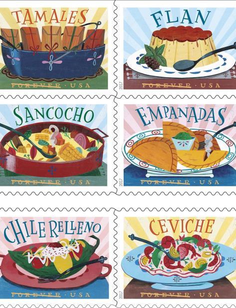 El servicio Postal de EE.UU. rinde tributo a la gastronomía latina (vertical-x1)