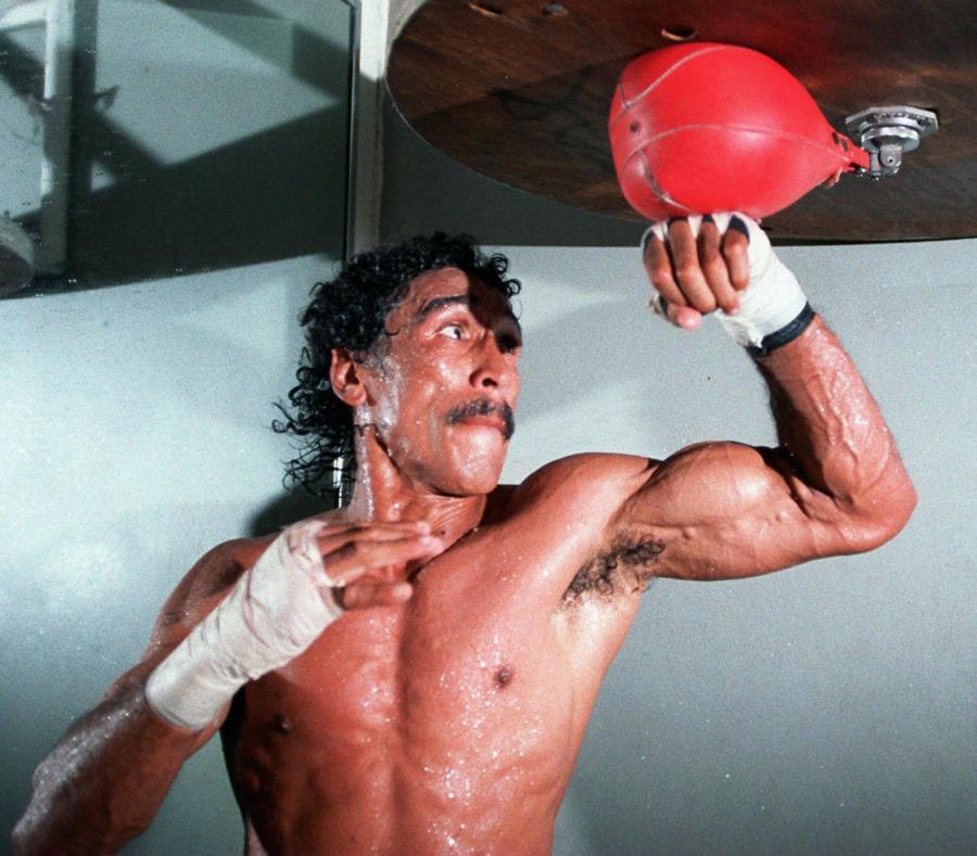 El 5 de junio de 1982 en Chile, el boricua Samuel Serrano, en la foto, enfrentó al chileno Benedicto Villablanca. (GFR Media) (semisquare-x3)