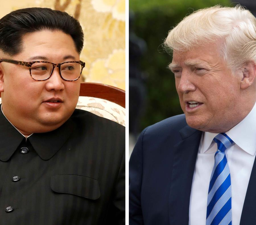 Kim Jong-un y Donald Trump (semisquare-x3)