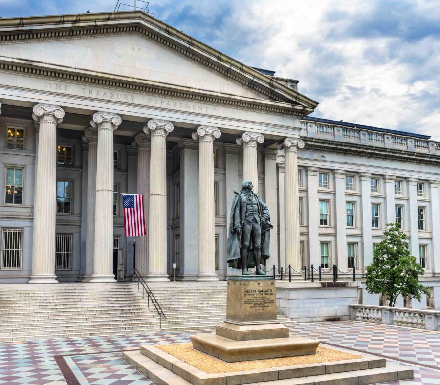 La sede del Departamento del Tesoro federal en Washington. (Shutterstock) (semisquare-x3)