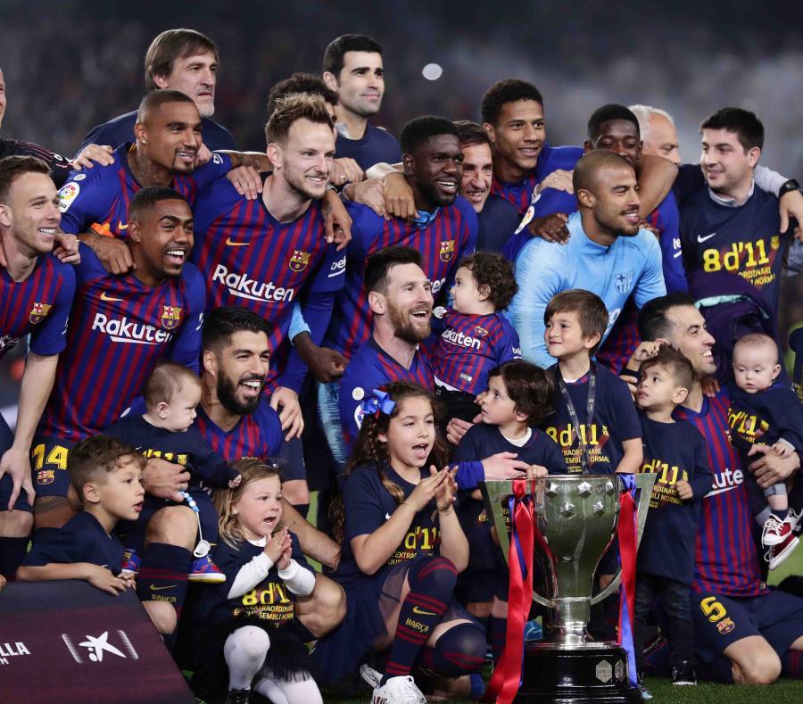 El Barca ganó el sábado el título de la liga española. (AP) (semisquare-x3)