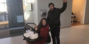 Puertorriqueña da a luz en Holanda a su primer hijo en medio de la crisis del coronavirus