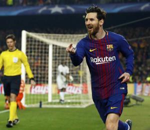 Messi anotó en la Champions el gol más rápido de su carrera