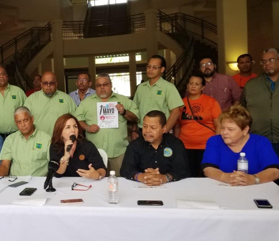 En la foto varios de los representantes de las organizaciones que protestarán en La Fortaleza (semisquare-x3)