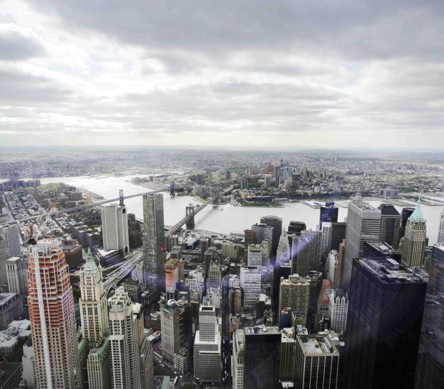 Vista del distrito financiero de Nueva York desde el observatorio del World Trade Center. (AP) (semisquare-x3)