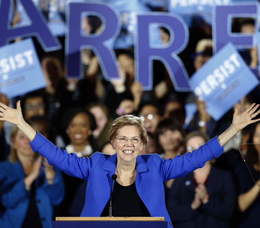 Elizabeth Warren anuncia pasos para retar a Trump en 2020