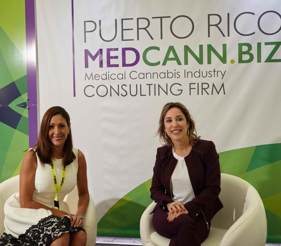 Desde la izq.: Ingrid Schmidt, presidenta de la Asociación de Cannabis Medicinal de Puerto Rico, y Noemí Pérez, presidenta de MedCann.Biz. (Suministrada) (semisquare-x3)