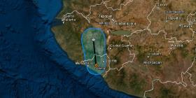 La depresión tropical Priscilla llega a México