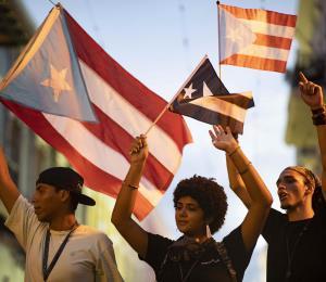 La juventud puertorriqueña levanta bandera