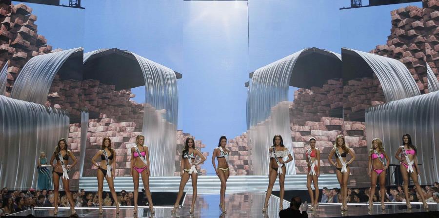 Algunas de las candidatas desfilan durante la competencia preliminar de Miss USA. (horizontal-x3)