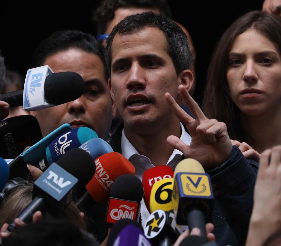 El presidente de la Asamblea Nacional de Venezuela y autoproclamado presidente interino del país, Juan Guaidó. (EFE) (semisquare-x3)