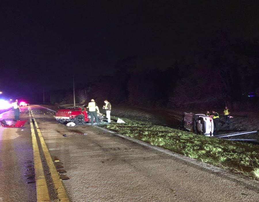 Escena del accidente. (Twitter / Polk County Sheriff) (semisquare-x3)