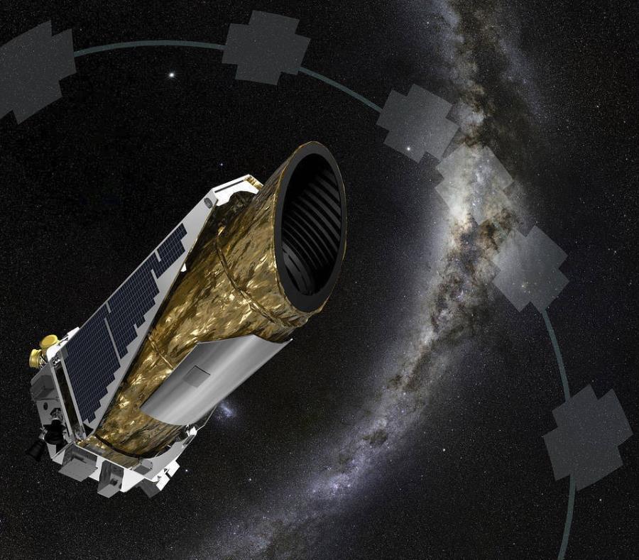 Esta recreación sin fecha proporcionada por NASA muestra a la nave espacial Kepler. (NASA vía AP) (semisquare-x3)