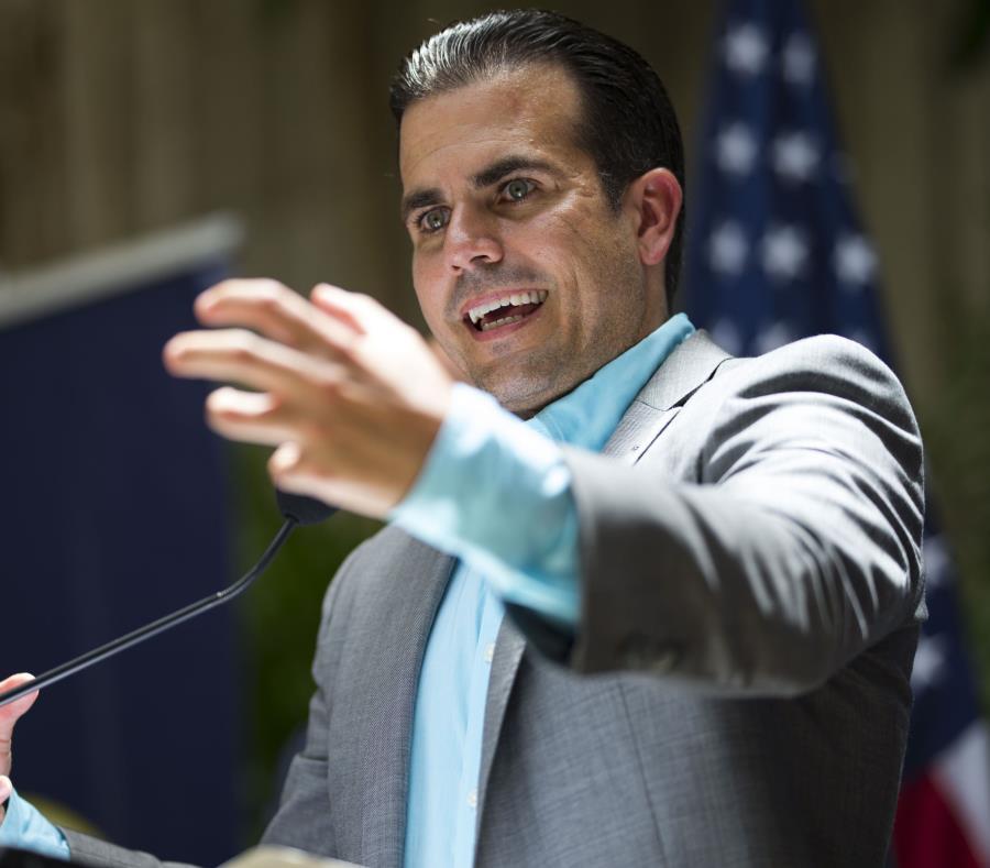 Ricardo Rosselló, gobernador de Puerto Rico, durante una conferencia de prensa. (semisquare-x3)
