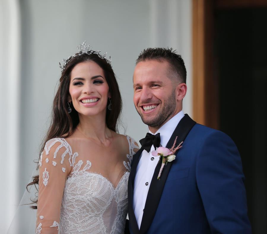 Viviana Ortiz y José Juan Barea se casaron en el 2016. (semisquare-x3)