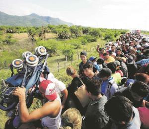 La marcha de migrantes en aras de un pacto social