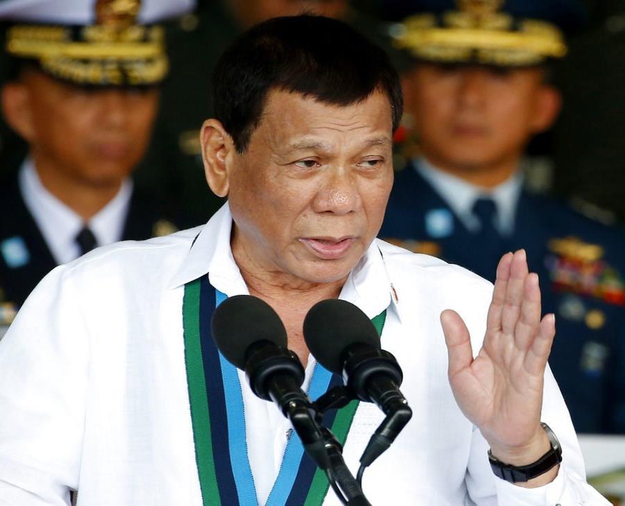 Duterte lamentó que EE.UU. imponga un embargo militar a los países que compren armamento de Rusia. (semisquare-x3)