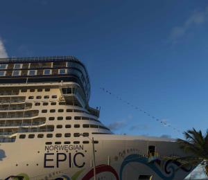 Accidentado desembarco de pasajeros de un crucero en San Juan